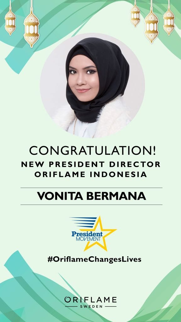 Congratulations New President Director Oriflame Indonesia